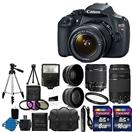 CANON EOS REBEL T5 DSLR KIT 18-55mm 75-300mm +17pc ACCESSORIES NEW!